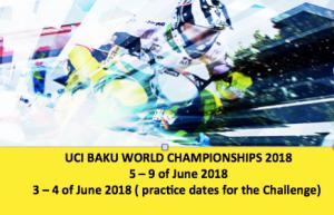 Baku 2018 Worlds Dates