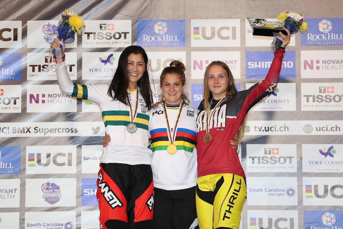 Bethany Shriever 2017 Worlds Podium - UCI