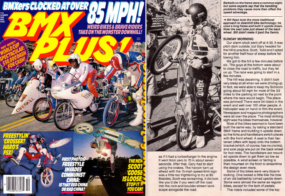 Bill Ryan BMX Plus Magazine October 1987