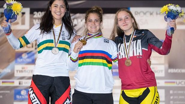 2017 UCI Worlds Jr Women Podium - UCI
