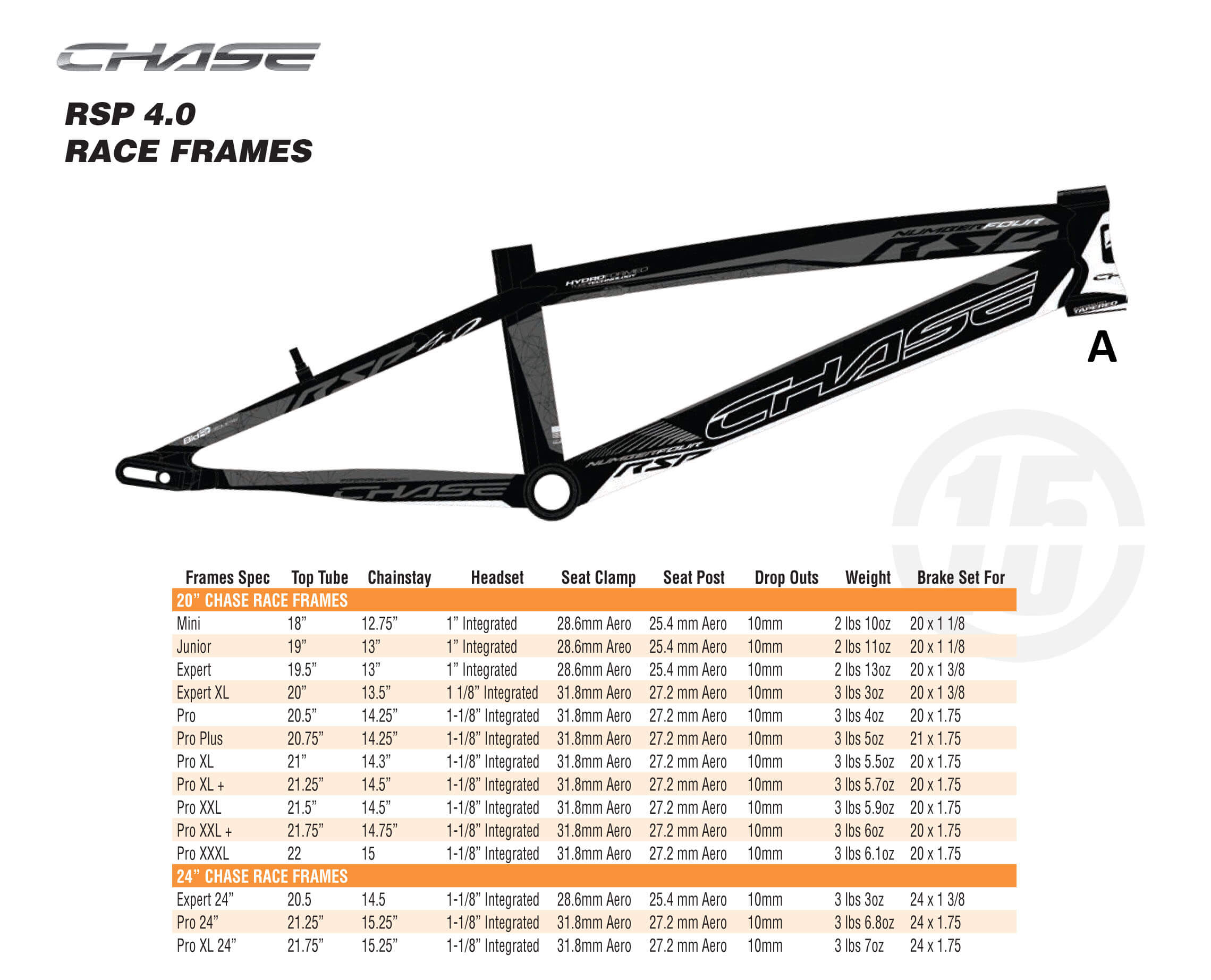Chase RSP 4.0 - Fifteen BMX