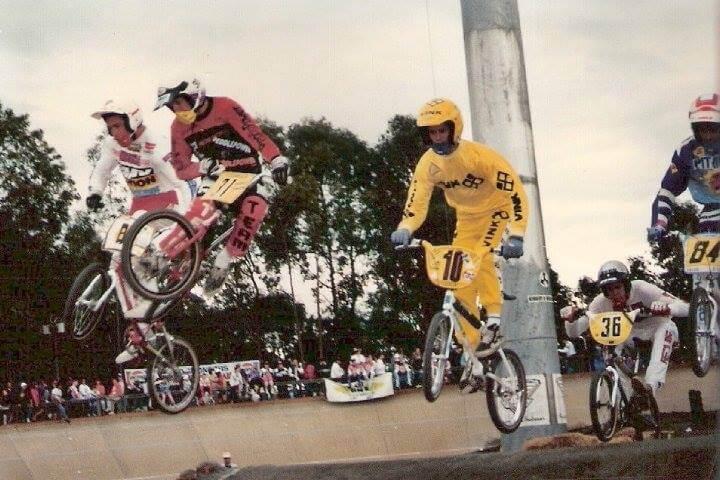 Superclass moto. BMX World Championships Brisbane 1989 and riding for Peddlepower - Bruce Morris