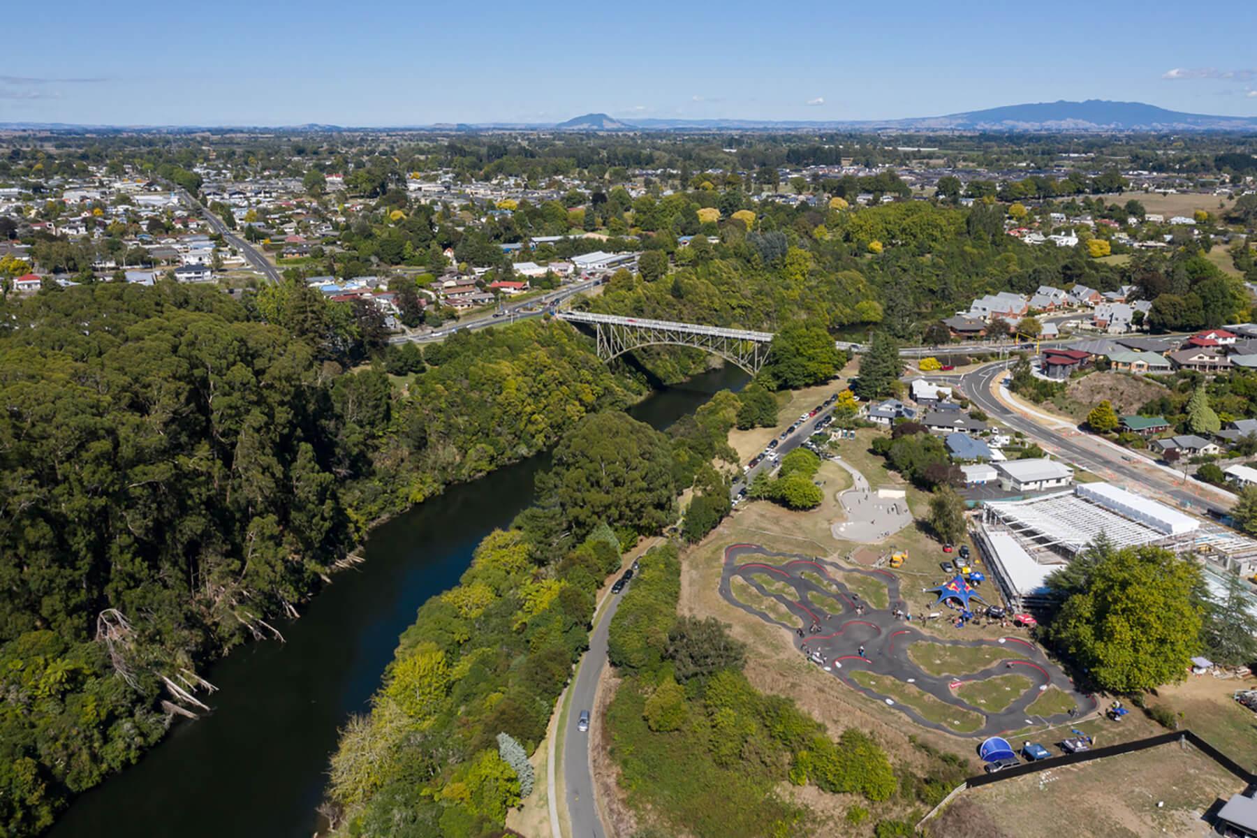 Red Bull Pump Track Cambridge, New Zealand - Dan Grifftihs