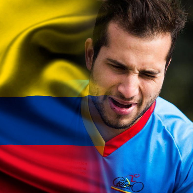 Carlos Ramírez Olympic Interview Colombia Flag