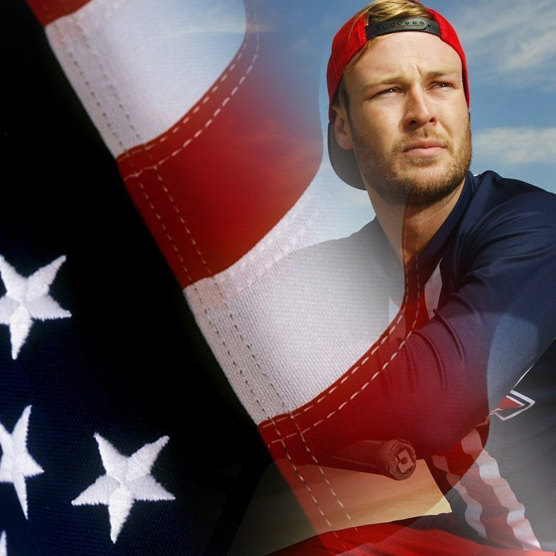 Nic Long Olympic Interview American Flag