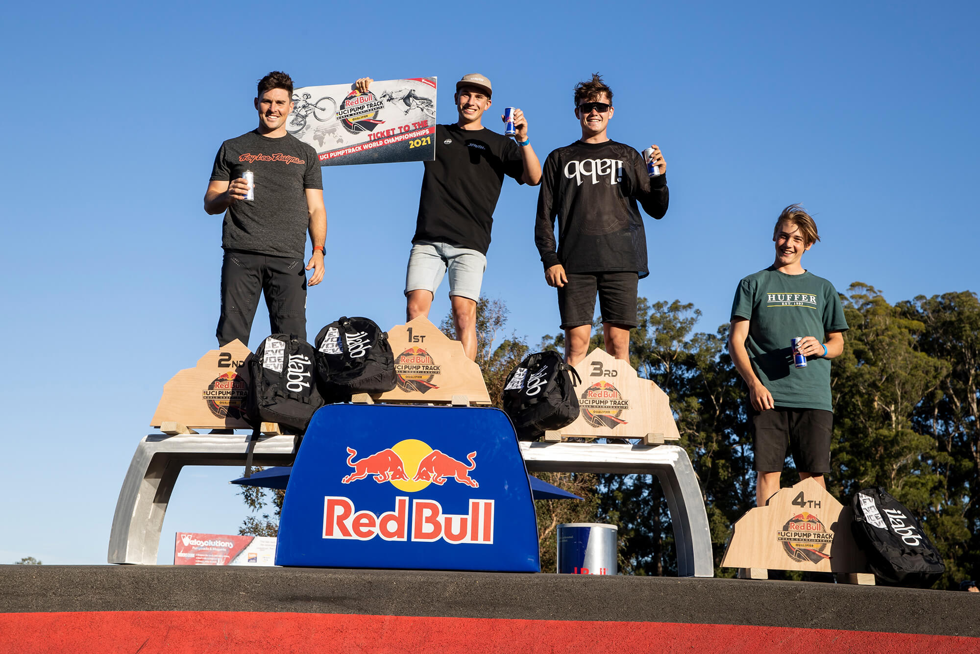 Red Bull Pump Track Cambridge NZ 2021 - Graeme Murray - Mens Podium