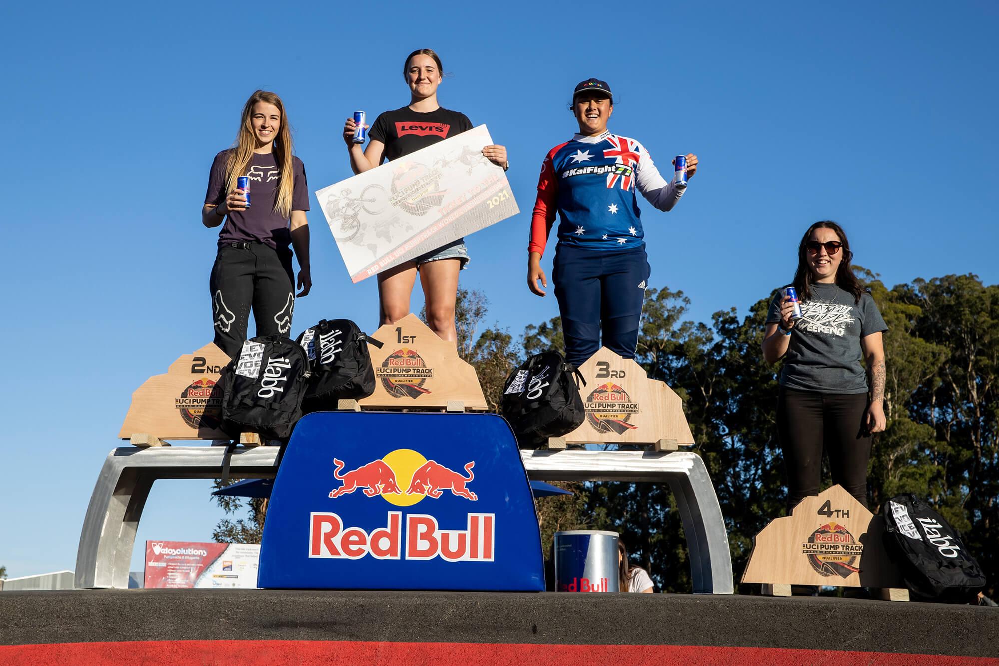 Red Bull Pump Track Cambridge NZ 2021 - Graeme Murray - Womens Podium