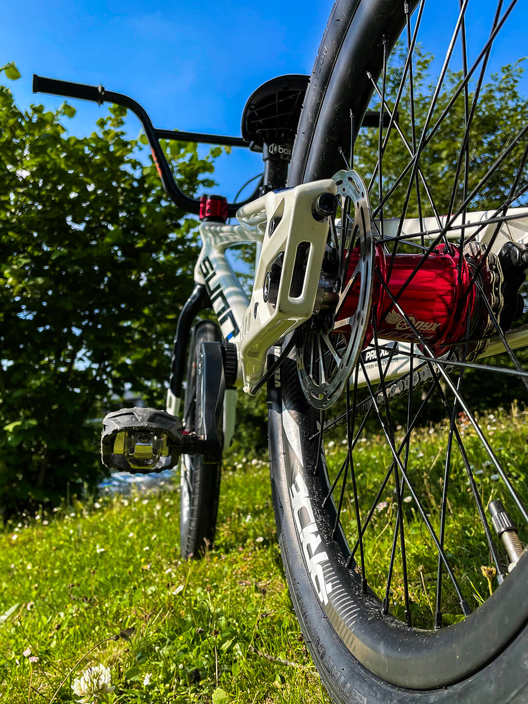 Manon Valentino Tokyo 2020 Olympic Bike rear wheel - Manon Valentino